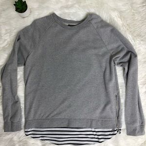 Layered Striped Sweater